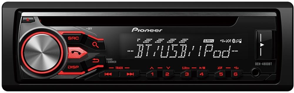 Pioneer DEH-4800BT Autoradio 1-DIN mit Bluetooth