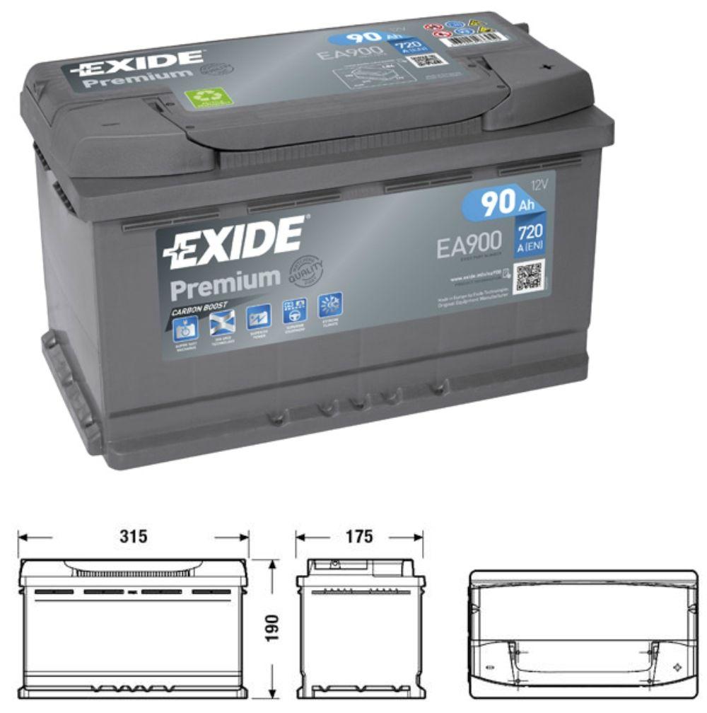 Exide Premium EA900 Carbon Boost